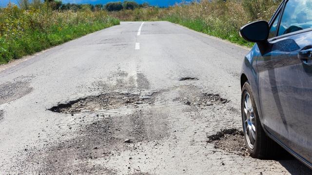 dangerous potholes on streets of NYC